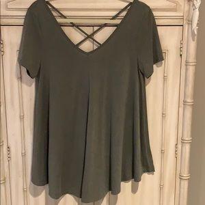 Oversized olive green T-shirt